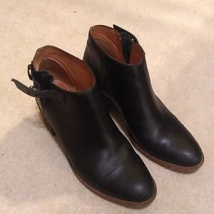 Madewell black leather boots size 8 1/2
